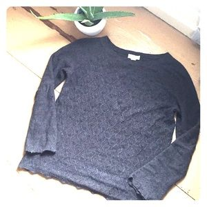 LOFT scallop hem sweater